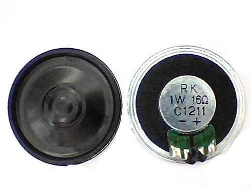 Davitu 2X Thin speaker loudspeaker 16 ohm 1watt,16R 1W 36mm/28mm high grade toy connection. - (Color: Diameter 36mm)