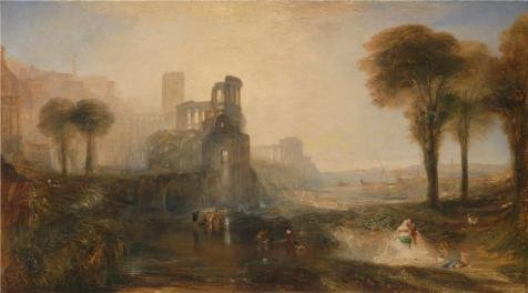 The High Quality Polyster Canvas Of Oil Painting 'Joseph Mallord William Turner - Caligula's Palace And Bridge,1831' ,size: (Dream Spa 1831)