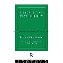 Descriptive Psychology (International Library of Philosophy)