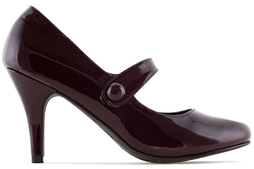 Machado Style Andres Rot Femme Janes Mary Pour Rouge Sandales zUAxAd