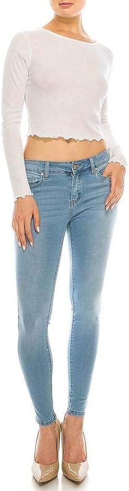 Salt Tree Women's EnJean Classic Mid-Rise Push Up Ankle Skinny Jeans