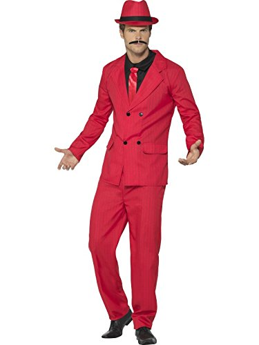 1920's Suit Costume (Smiffy's Men's Zoot Suit, Red, Medium)
