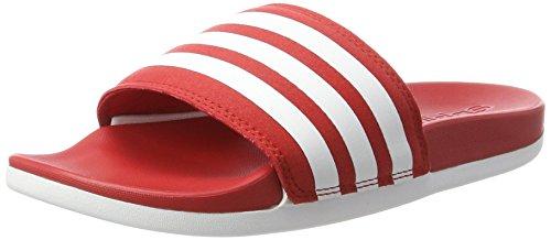 adidas Adilette Cloudfoam Ultra, Chaussures de Plage et Piscine Homme Rouge (Scarlet/footwear White/scarlet)