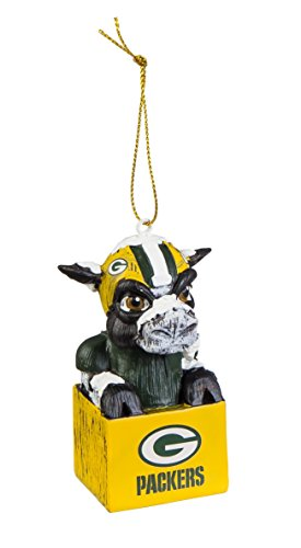 Ornaments Green Bay Packers - Team Sports America 3OT3811MAS Green Bay Packers Mascot Ornament