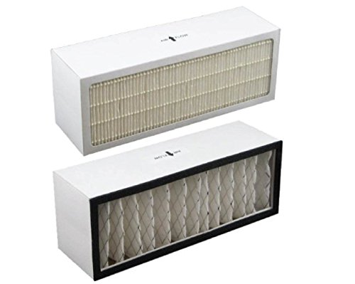 LifeSupplyUSA Replacement Filter A1001B to fit Bionaire Models LC1060 & LE1160 Air Cleaner Dual Filter Cartridge