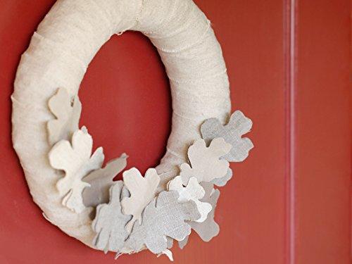 Fall Linen Wreath -