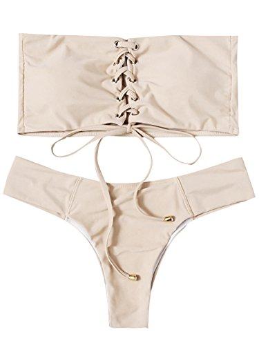 Beige Bikini Set in Australia - 6