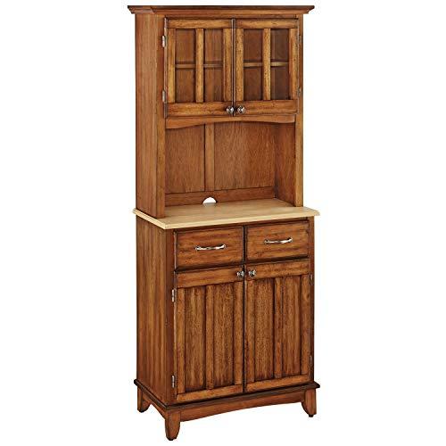 Oak China Hutch (Svitlife Diascia Cottage Oak Hutch Buffet Buffet Hutch Cabinet China and Storage Kitchen Wood Dining)