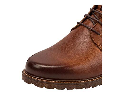 Desgaste Hombre Para Resistentes Raíz Al Marrón De Brown Altos Cuero Cuadrada Aire Senderismo Botas Zapatos Vintage Libre Derby fvxzwqqU