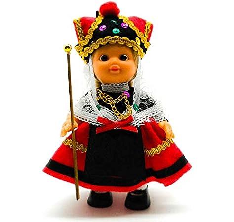 Amazon.es: Folk Artesanía Muñeca Regional colección de 15 cm con Vestido típico Segoviana Segovia España.: Juguetes y juegos