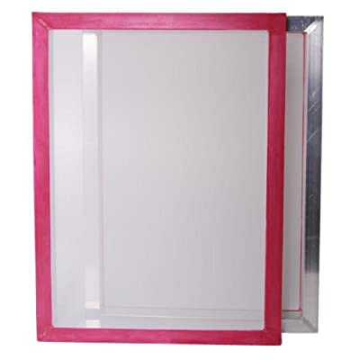 "2-pack 20""x24"" Aluminum Screen Printing Frames w/ 110 tpi White Mesh Pre-stretched"