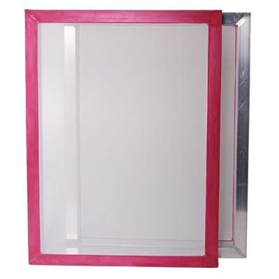 "2-pack 20""x24"" Aluminum Screen Printing Frames w/ 110 tpi White Mesh Pre-stretched"
