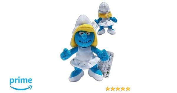 Pitufina 22cm Muñeco Peluche Azul Los Pitufos TV Smurfs Super Suave Soft Gran Calidad: Amazon.es: Juguetes y juegos