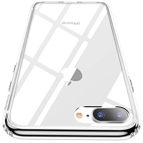 従事したダイヤモンドジーンズ【CASEKOO】iphone 8 plus ケース iphone 7 plus ケース クリア 薄型 強化ガラスケース 硬度9H 耐衝撃 アイフォン8/7プラス ケース ハードケース ストラップホールあり ワイヤレス充電対応 [Ice Series]