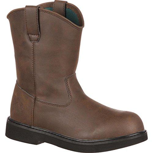 Georgia Boot Kids' G099 Mid Calf Boot, Brown, 2 M US Little Kid
