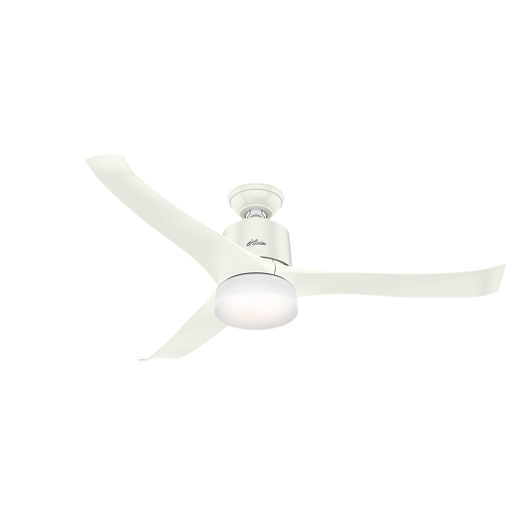 Hunter 59222 Symphony Ceiling Fan with Wifi Capability, 54-inch, Fresh White, works with Alexa