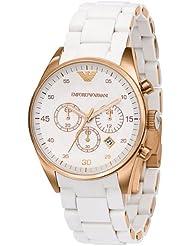 Emporio Armani Womens AR5920 Sportivo White Dial Watch