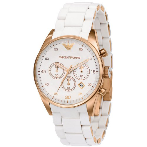 (Emporio Armani Women's AR5920 Sportivo White Dial Watch)