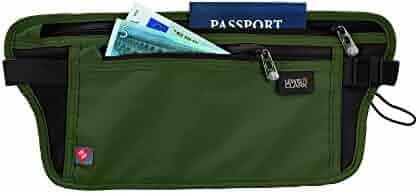 Lewis N. Clark Rfid-Blocking Stash Anti-Theft Hidden Money Belt Waist Pack, Olive, One Size
