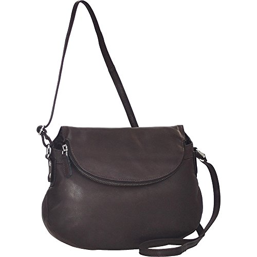 r-r-collections-flap-pocket-gusseted-crossbody-brown