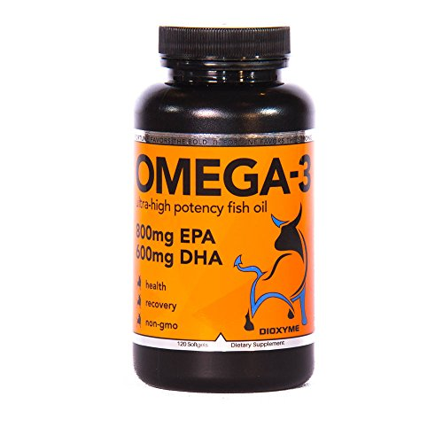 Dioxyme Pharmaceutical Grade Omega-3: 1500mg Fish Oil, 800mg EPA and 600mg DHA Fatty Acids, The Best Doctor Formulated Capsules. Supports Joint, Heart and Brain Health For Sale