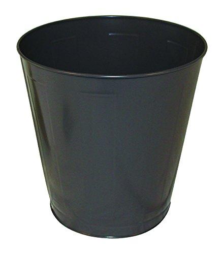 Impact 1301-3 Round Metal Wastebasket, 14 qt Capacity, 11-1/4