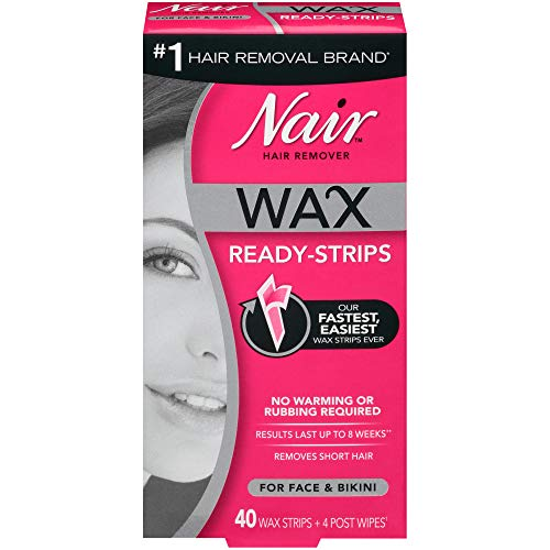 Nair Wax Ready-Strips for Face and Bikini, 40 Count