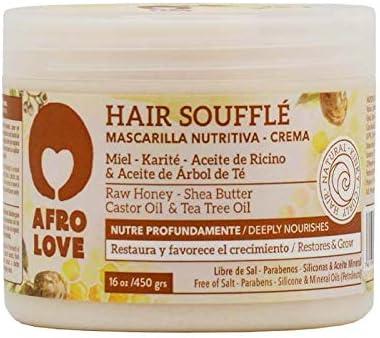 Afro Love Mascarilla Capilar Nutriva con Miel, Karité, Aceite de Ricino & Aceite de Árbol de Té 450g