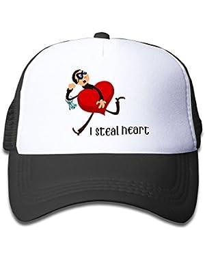 I Steal Heart Funny Kids AdjustableTrucker Visor Cap Infant Trucker Hat