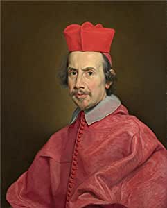 'Giovanni Battista Gaulli (Baciccio) Portrait of Cardinal Marco Gallo ' oil painting, 10 x 12 inch / 25 x 32 cm ,printed on Perfect effect canvas ,this Beautiful Art Decorative Canvas Prints is perfectly suitalbe for gift for relatives and Home artwork and Gifts
