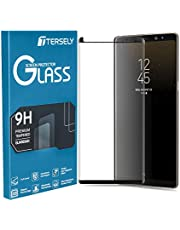 TERSELY Full Coverage Tempered Glass Screen Protector for Samsung Galaxy S8, Film Ultra HD Screen Guard Clear Anti-Scratch [Bubble Free] [Touch Sensitive] [Case Friendly] (Black)