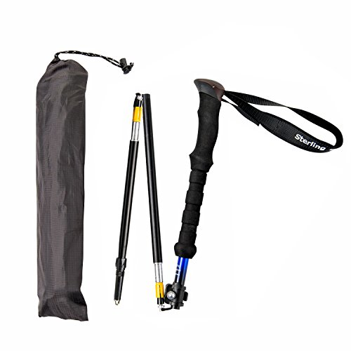 Short Person's Trekking Poles / Folding Collapsible / Hiking Poles / Walking Sticks by Sterling Endurance (buy 1 pole or 2 poles)