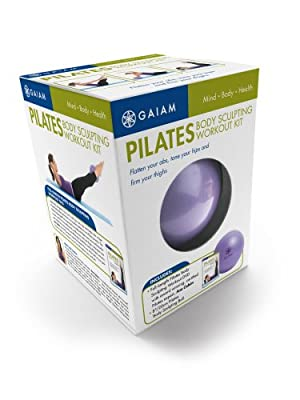 Gaiam Pilates Body Sculpting Workout Kit Pilates Ball Dvd by Gaiam