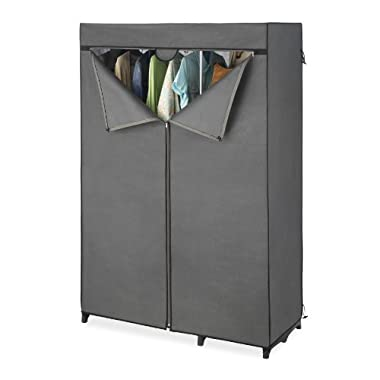 Whitmor Double Rod Closet Cover, Gray (COVER ONLY)