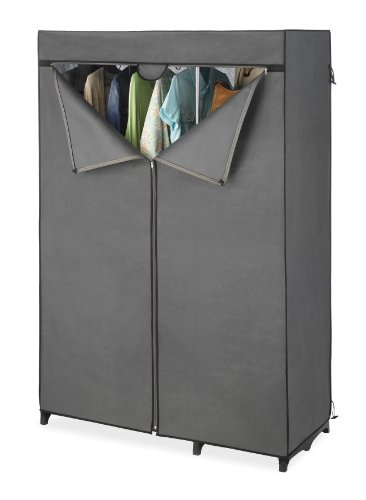 whitmor-double-rod-closet-cover-cover-only-fits-whitmor-double-rod-freestanding-closet-wardrobe-silv