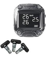 Monitor de presión de neumáticos de motocicleta USB inalámbrico de carga rápida TPMS Presión (51 44 18 mm / 2.01 1.73 0.71in)
