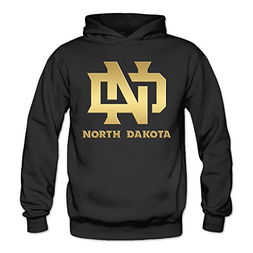 North Dakota Fighting Sioux Classic Women's Hooded Hoodies Black L ()