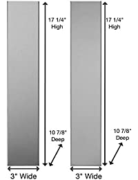 Universal Stainless Steel Over the Range L Shaped Microwave Fill Filler Kit - Fills a 36 Wide by 17-1/4 Tall Spot FK3-SS