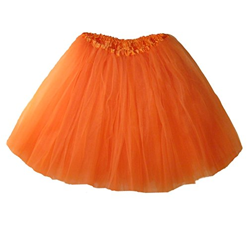 Pumpkin Costumes For Women (Adult Ballet Tutu Waist 18-36 Length 16-17 by Southern Wrag Company (Orange))