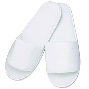 e16326b2d8a90 Amazon.com   Premium Open Toe Terry Spa Slippers White 1-pr.   Hotel Slipper    Beauty