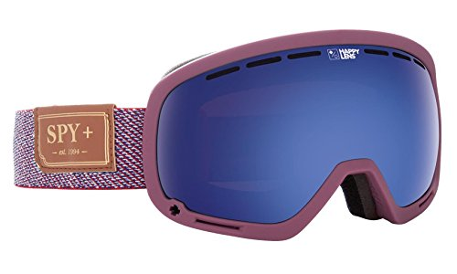 Spy Optic Marshall Snow Goggles, One Size (Hunter Red Frame/Happy Dark Blue Spectra + Happy Lucid Red - Womens Electric Goggles