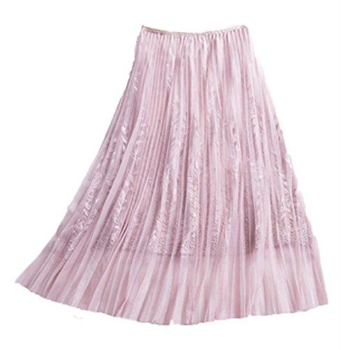 Bonbon Uni Rose Femme Unique Noir zoulouyou Noir Jupe Plisse Taille zqUPS4
