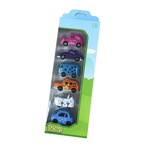 6 Piece Alloy Die-cast Vehicles Carton Mini Truck Toy Mini Cars For Toddler Party Favors - Carton Truck