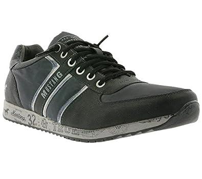 Schuhe 63136 Mustang Herren Sneaker Turnschuhe Schwarz 76gyvYfb