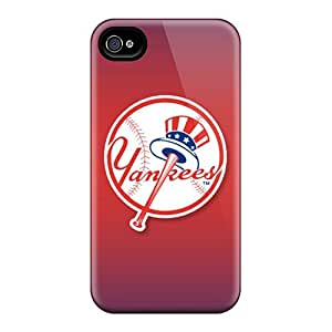 AlissaDubois Iphone 4/4s High Quality Hard Phone Cases Unique Design High Resolution New York Yankees Skin [pTq4972bJPQ]