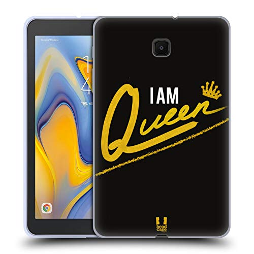 Head Case Designs Queen I Am Gold Ensemble Soft Gel Case Compatible for Galaxy Tab A 8.0 (2018)