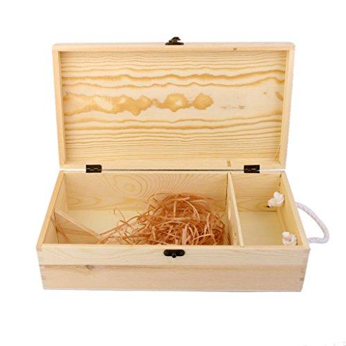 Wine Box Carrier Crate Case Best Gift Decor 35*19*10cm Dual Bottle