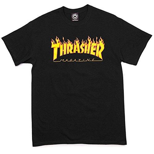 Thrasher Flame T-Shirt - Black - LG