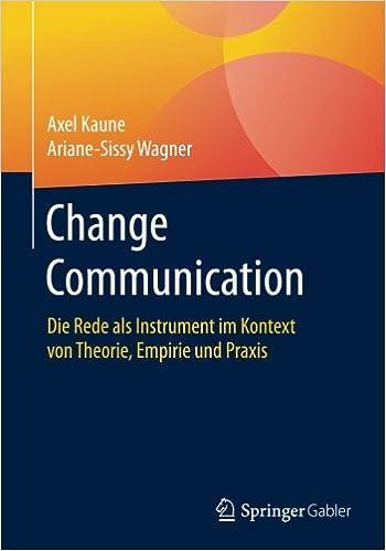 Book Change Communication: Die Rede als Instrument im Kontext von Theorie, Empirie und Praxis