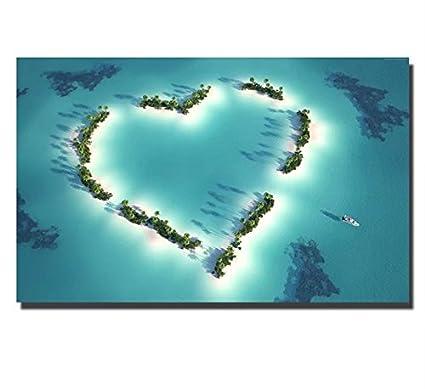 Moxo blu navy Maldive Island dipinto su tela mare paesaggio immagini ...